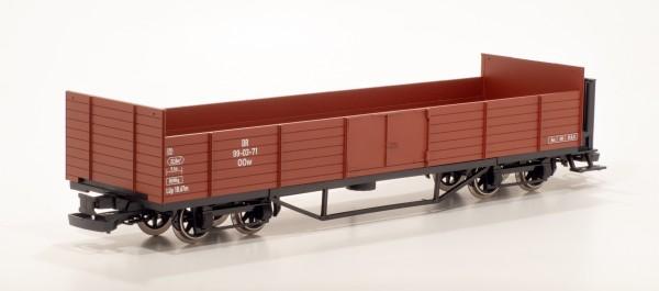 offener Güterwagen HSB mit Bühne DR 99-03-69