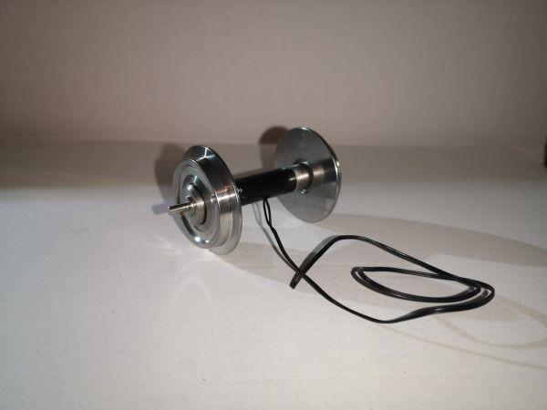 Achse, kugelgelagert, Voll-Edelstahlrad MIT Stromführung, 30mm