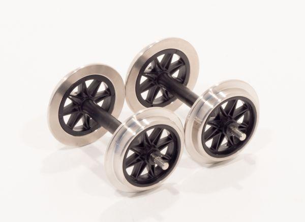 Metall V Speichenradsatz, 2 Achsen,