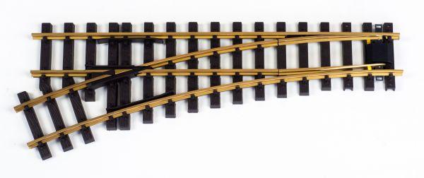 Weiche links 120cm, ohne Antrieb