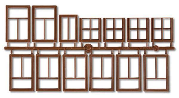 3x Fenster braun