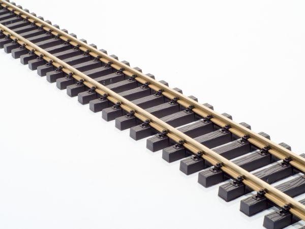 Messing Flexgleis 150cm, vormontiert, incl. Schraubverbinder