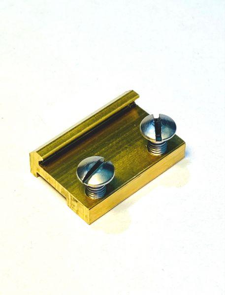 Schraubschienenverbinder 19mm Messing (100stk)