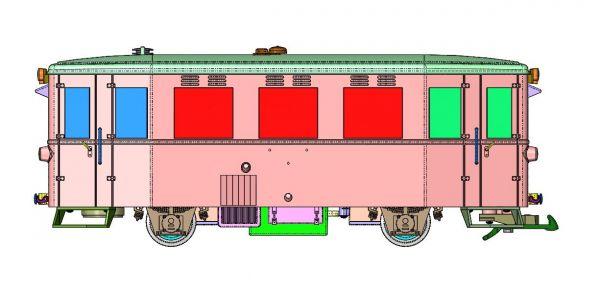 Triebwagen HSB T1, analog/DCC Betrieb, mit Sound