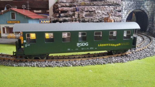 DR/SDG Personenwagen 7 Fenster, 970-407, Lößnitzgrundbahn