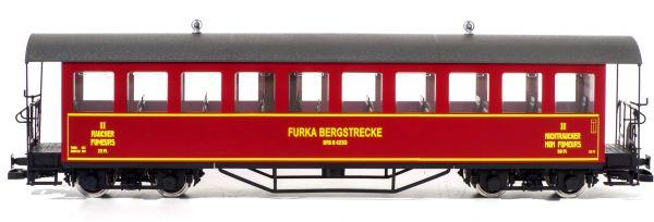 Personenwagen B 4233 der Furka Bergstrecke, rot