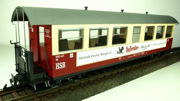 """HSB Personenwagen, 7 Fenster 900-437 """"Hasseröder Pils"""""""