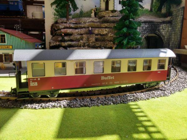 """HSB Personenwagen 8 Fenster, 900-498 """"Buffet"""", incl. Kücheneinrichtung"""