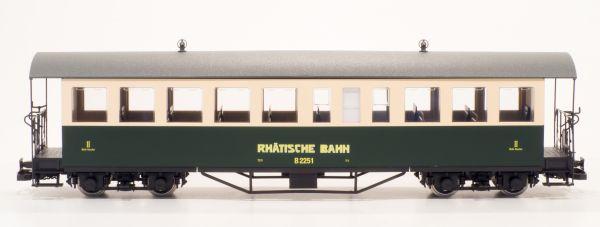Set RhB Personenwagen B 2251, B 2252 grün/beige