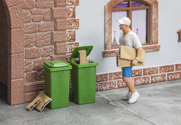 2 Mülltonnen,grün
