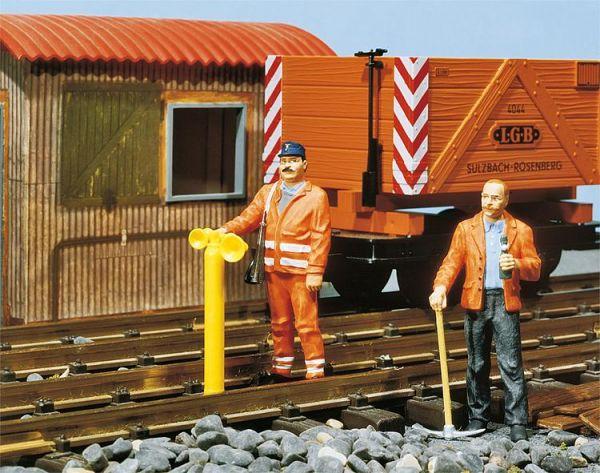 2 Gleisbauarbeiter