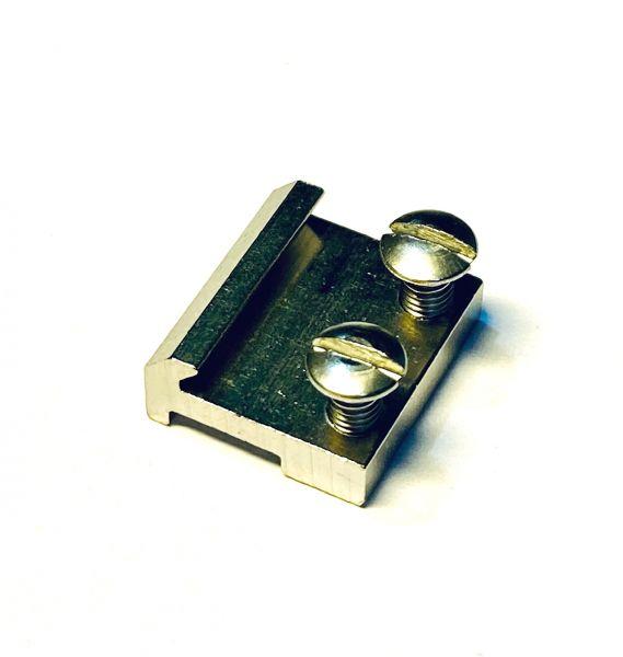Schraubschienenverbinder vernickelt, 15mm (10 Stk)