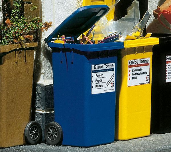 2 Mülltonnen,blau