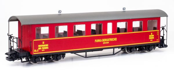 Personenwagen B 4229 der Furka Bergstrecke, rot